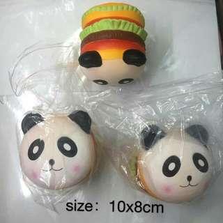 Panda Hamburger Squishy