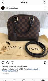 LV BB alma mirror leather