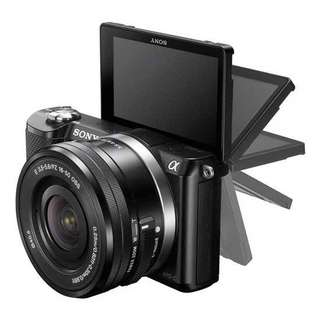 Kredit Kamera mirrorless Sony A5000 kit 16-50mm ready Laptop PS4 HP