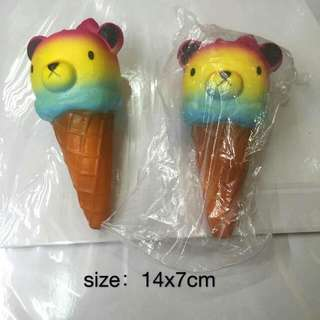 Squishy Bear Colored Ice Cream Cone