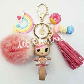 Tokidoki Donutella And Her Sweet Friends Series 2 Donutella Sprinkle Cycle Bag Charms / Fobs