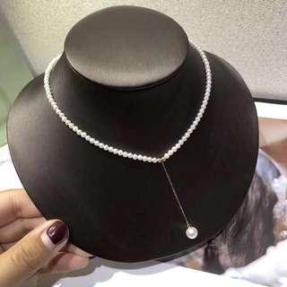 100%天然淡水珍珠 3mm小珠頸