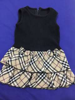 Korean Style Girl Dress Burberry Design