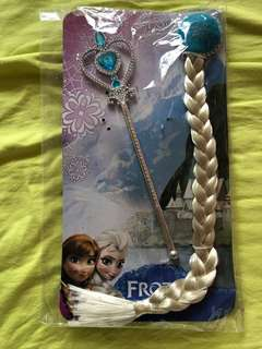 Frozen Elsa hair accessories and wand