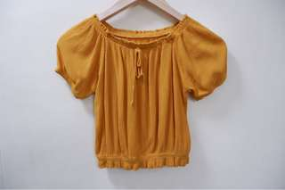 Mustard Yellow Off-Shoulder