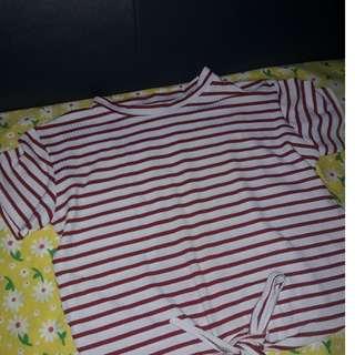 Crop top,stripes