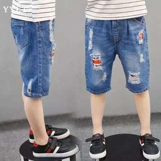 Little Kid Denim Pant - GHR981  Size: 110cm, 120cm, 130cm, 140cm, 150cm, 160cm  Design: as attach photo