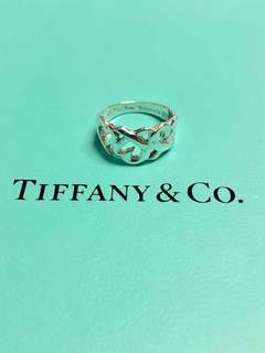 TIFFANY &Co.Bibbon純銀戒指