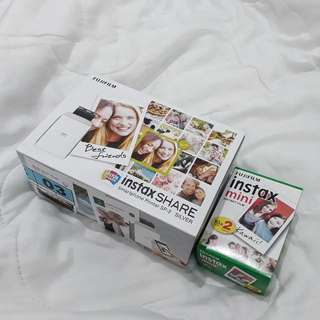 Fujifilm Instax Share SP-2 Silver NEW FREE refill instax mini 2 packs