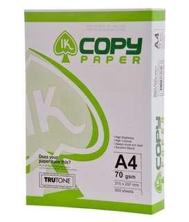 IK Copy Paper A4 70GSM