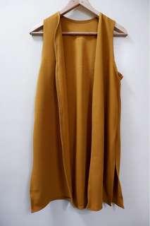 Mustard Yellow Long Vest