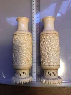 Old pair of vase - not bone