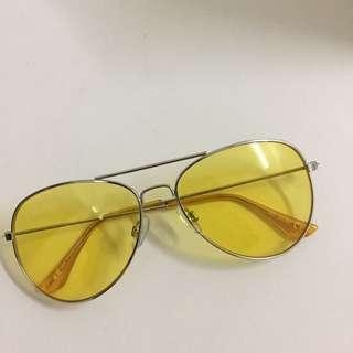 h&m yellow sunglasses