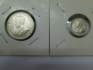 King George V 20c and 5c