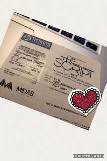 The Script gen ad ticket