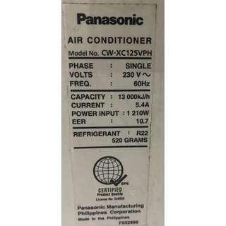 Panasonic 1.5hp Window Type Aircon