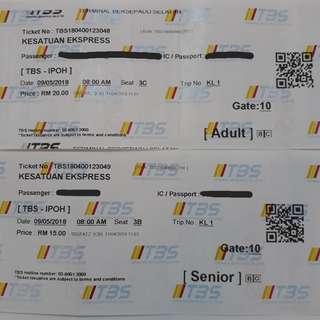 KL > IPOH Bus Ticket (One-Way)