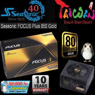 Seasonic FOCUS PLUS 850w Gold Power Supply..  ( 10 Years Warranty )
