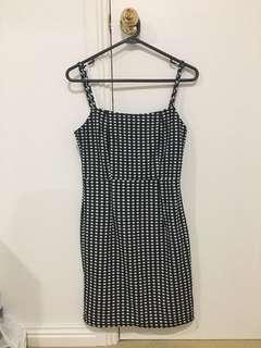 BRAND NEW gingham / black and white dress