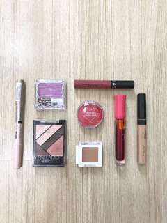 Sephora, Canmake, The Face Shop, Palladio, Catrice