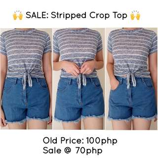 💕 SALE: Stripped Crop Top