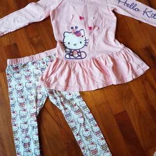 Pre-loved Mothercare Hello Kitty set