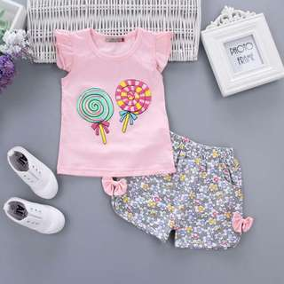Cute lollipop design kid's set