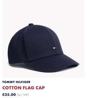 Tommy Hilfiger Navy Cotton baseball cap boys cap帽