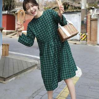全新正韓66girls格子洋裝