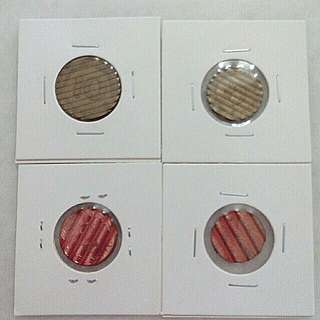 Free Pos Set of 4 Germany Coin Pre-Euro Waffled Cancelled Die