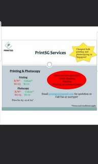 CHEAPEST Printing Service