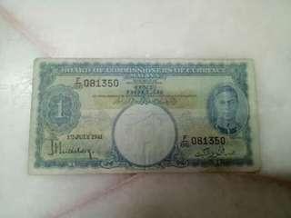 Malaya KGVi 1941 $1