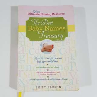 The Best Baby Names Treasury by Emily Larson