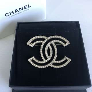 Authentic Chanel CC Brooch