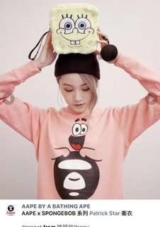 Aape x Spongebob 衛衣