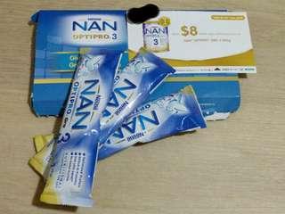 Nan Optipro Gro 3 starter pack and voucher