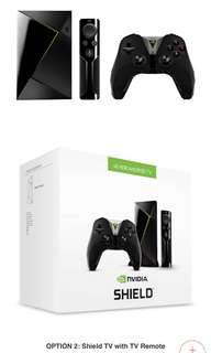 Nvidia Shield TV With TV Remote and Gaming Controller
