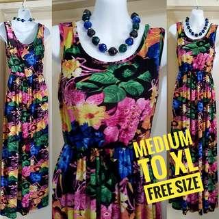 🆕️Floral Maxi Dress (Long Summer Dress/Floral Print Dress/Maxidress/Long Dress)