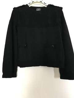 Chanel 全新正貨黑色針織上衣 Top size 38