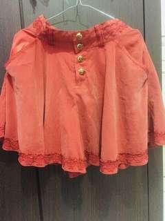 Rok celana vintage orange renda
