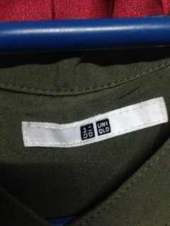 Uniqlo green army shirt