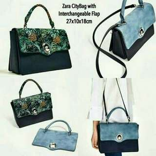 Zara Citybag with Interchangeable Flap