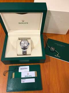 💕Good Deal!💕Full Set Original Local Receipt! Rolex Oyster Perpetual 31 Model 177200