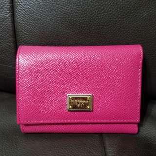 D&G 粉紅色銀包