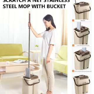 SCRATCH A NET AUTOMATIC HOME STAINLESS STEEL MOP WITH BUCKET  Rm51 Pos semenanjung rm8  Pm Wasap 0176725125  https://youtu.be/SKNmirTgrR0
