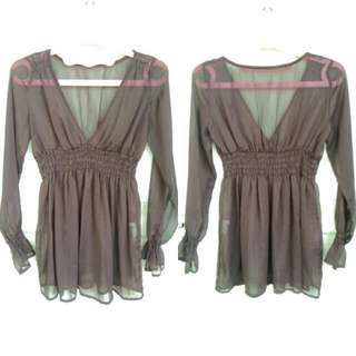 RF InterRemix Transparent Mini Dress