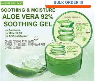 BULK ORDER for Nature Republic Aloe Vera Soothing Gel