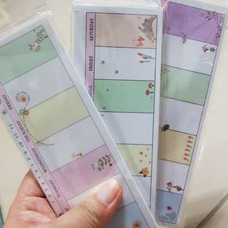 Weekly Planner Sticky Memo Pads/Weekly Planner Sticky Notes/☛ Size: 165mm x 60mm/☛ 35 sheets per pc