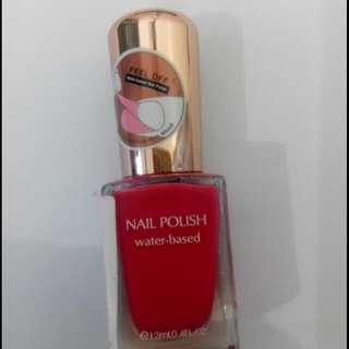 Miniso nail polish red