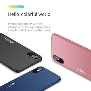 Slim Back Cover Case With Power Bank 3.5mm for iPhone X